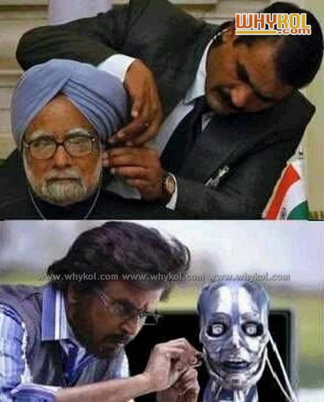 chitti the robo and manmohanji