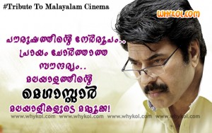 Tribute to mammootty