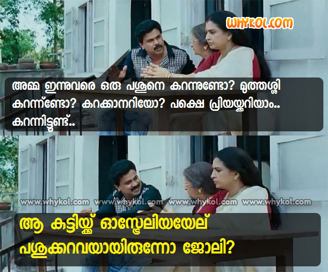 Malayalam Movie My Boss Dialogues Whykol