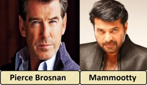 Pierce Brosnan and Mammootty