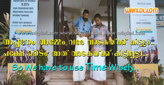 Malayalam film Quote abote Time