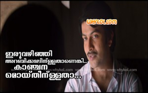 Ennu ninte moideen movie dialogue