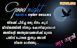 Malayalam Good night quotes