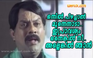Malayalam proverb comedy comment