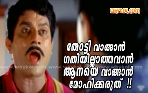 Malayalam movie moking comment