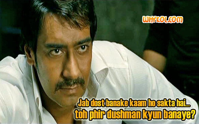 Once Upon a time in Mumbaai dialogues