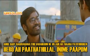 Dhanush Punch dialogue Scene in Velaiyilla Pattathari