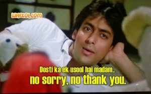 Salman Khan dialogues from the movie Maine Pyar Kiya