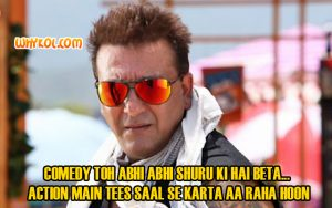 Sanjay Dutt dialogues in All the best