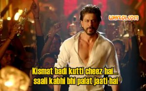 Shahrukh Khan dialogues in Happy New Year