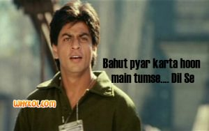 SRK dialogues from Dil Se | Bollywood hit movie dialogues