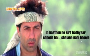 Sunny Deol dialogues from the movie Jeet