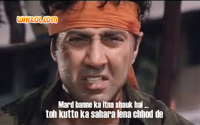 Sunny Deol dialogues from the movie Ghatak