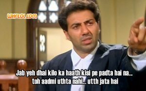 Sunny Deol Action-Punch dialogues from Damini