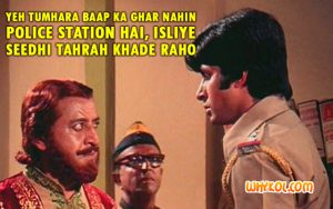 Amitabh Bachchan dialogue from Zanjeer