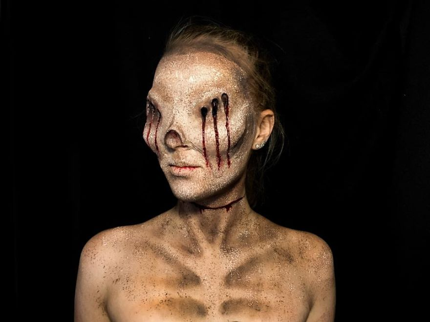 16 Year Old Australian Girl Who Paints Herself In Monstrous Outlooks 8