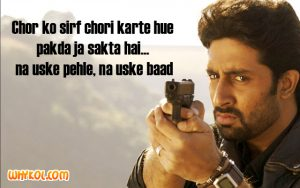 Dhoom 2 dialogues | Abhishek Bachchan Hindi movie dialogues