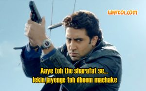 Abhishek Bachchan Best dialogues from Dhoom 3