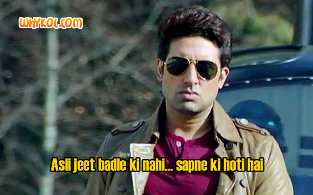 Super Hit Bollywood dialogues   Abhishek Bachchan in Dhoom 3