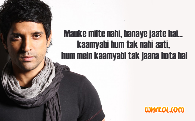 Bollywood dialogues from the Movie Luck By Chance