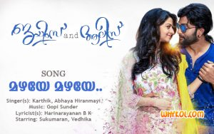 Song: Mazhaye Mazhaye Movie: James And Alice (2016) Singer(s): Karthik, Abhaya Hiranmayi Music: Gopi Sunder Lyricist(s): Harinarayanan B K Starring: Sukumaran, Vedhika