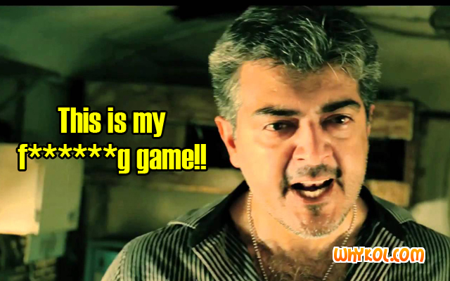 Thala Ajith punch dialogues from the Tamil Movie Mankatha