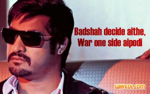 Nt Rama Rao Jr dialogues from the Movie Badshah