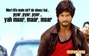 Shahid Kapoor Action dialogues from R Rajkumar