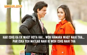 Love Quotes from the Movie Jab Tak Hai Jaan