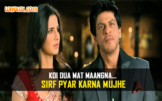 Love Dialogues From Hindi Film Jab Tak Hai Jaan