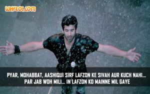 Bollywood Love Shayari | Aashiqui 2 Quotes