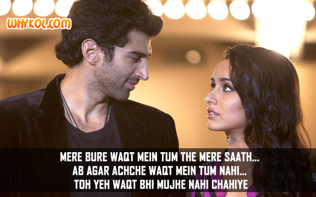 Dialogues from the Bollywood movie Aashiqui 2