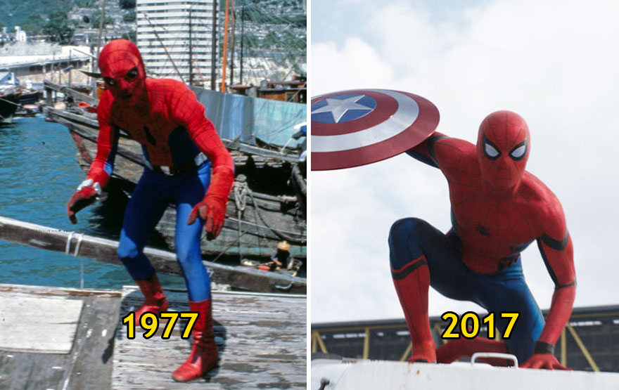 Spider Man Then and Now