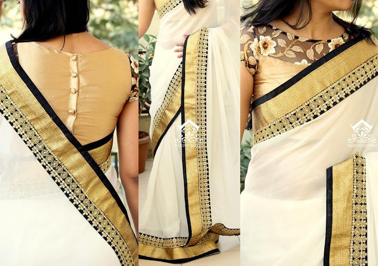 Wedding Modern Kasavu Saree