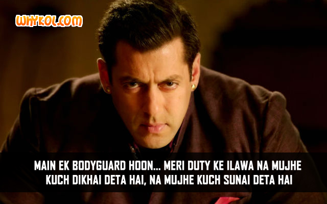 Famous Dialogues from the Movie Bodyguard | Salman Khan