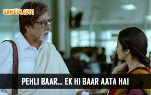 Amitabh Bachchan Dialogues from English Vinglish