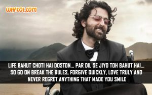 Inspirational Hindi Dialogues from the Movie Guzaarish
