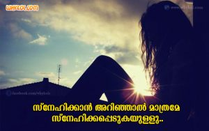 Love Facts Quotes | Malayalam Romantic Messages