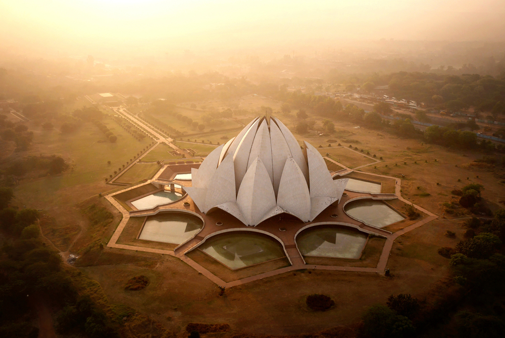 Drone Lotus Temple