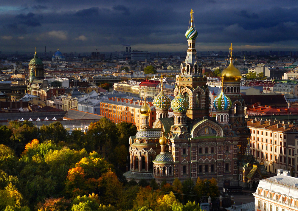 Drone saint petersburg church