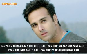 Pulkit Samrat Love Shayari from Junooniyat