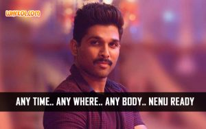 Allu Arjun Dialogues from the Movie Sarrainodu
