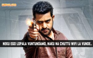 Superstar Jr NTR Dialogues from the Telugu Movie Temper