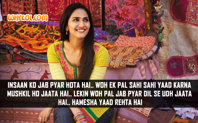 Shuddh Desi Romance Hindi Movie Dialogues