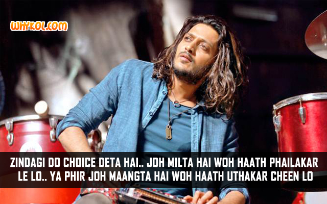 Ritesh Deshmukh Dialogues From Hindi Movie Banjo