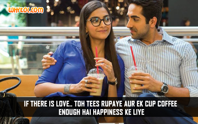 Hindi Funny Love Quotes | Ayushmann Khurrana in Bewakoofiyaan