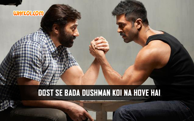Hindi Quotes From Movies | Sunny Deol in Dishkiyaoon