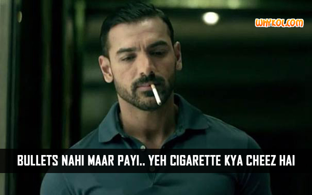 John Abraham Dialogue About Smoking in Dishoom