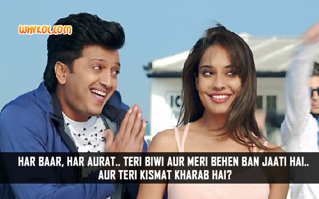 Ritesh Deshmukh Dialogues From Hindi Movie Housefull