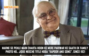 Best Of Rishi Kapoor Movie Dialogues | Kapoor and Sons